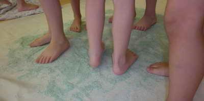 Солевая дорожка в детском саду