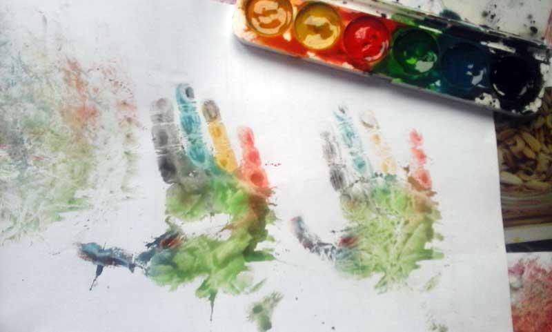 Результат №1, Ладошки и краски