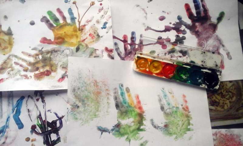Результат №3, Ладошки и еще раз ладошки с красками